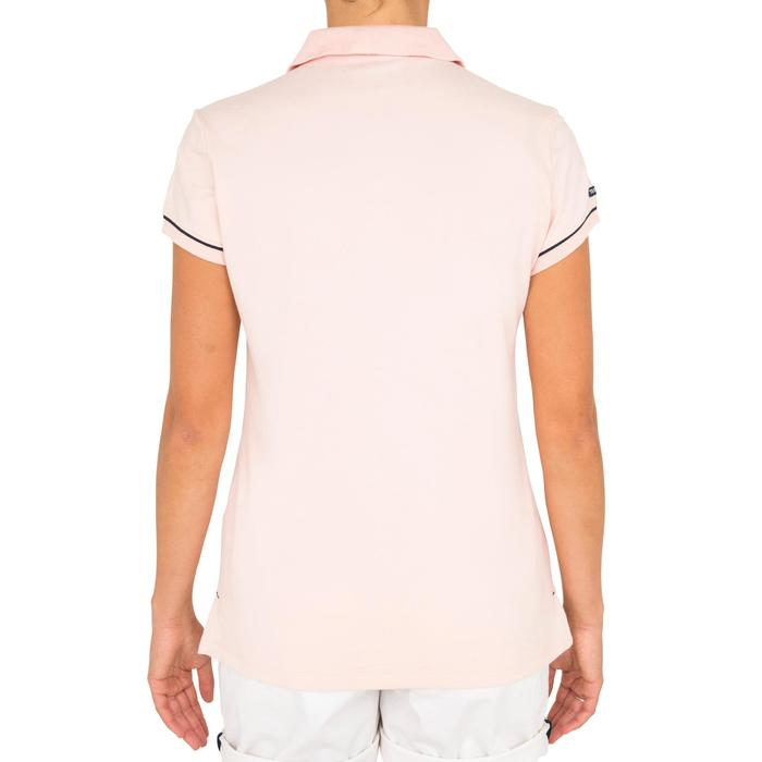 女式短袖航海POLO衫100 Adventure Pink