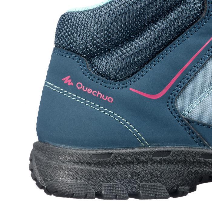 儿童山地徒步中帮鞋 MH100 - 灰色/红色,2.5 至 5