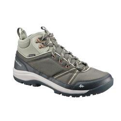 郊野徒步鞋-女士-中帮防水-卡其 | NH150