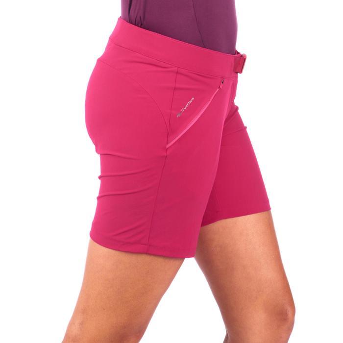 女式山地徒步短裤 MH500 - 皇家红