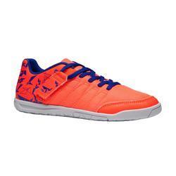 儿童五人制足球鞋CLR 500 Futsal 带魔术贴 橙色/蓝色
