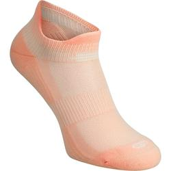 隐形舒适跑步袜(2双装) - 珊瑚色
