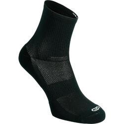 舒适中筒跑步袜(2双装) - 黑色
