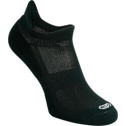 隐形舒适跑步袜(2只装)- 黑色