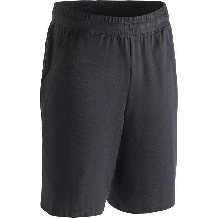 普拉提与基础健身直筒及膝短裤 500 系列 - 黑色