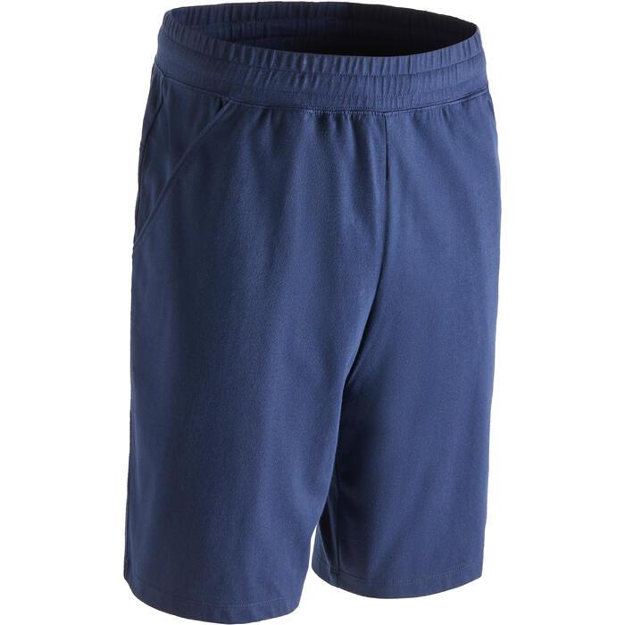 普拉提与基础健身直筒及膝短裤 500 系列 - 海军蓝