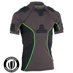 900 Adult Rugby Shoulder Pads - Grey/Green