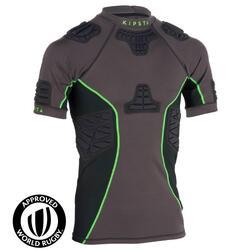 橄榄球运动防撞击男士短袖上衣T恤 KIPSTA Full H 900 Adult Rugby Shoulder Pads