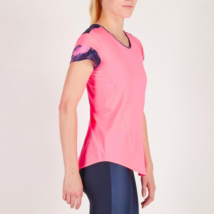 女式有氧健身T恤 500