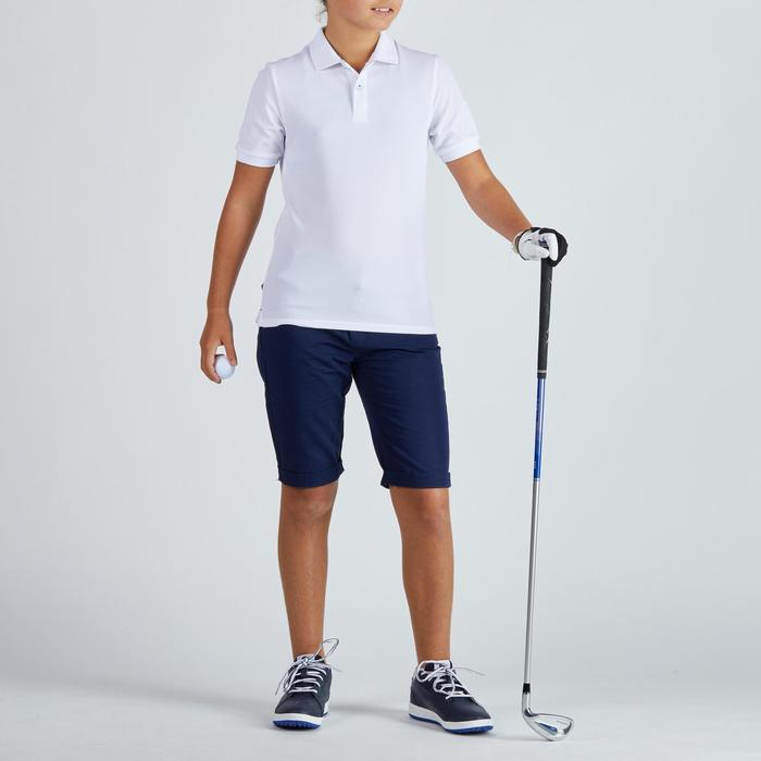 儿童透气高尔夫Polo衫-白色