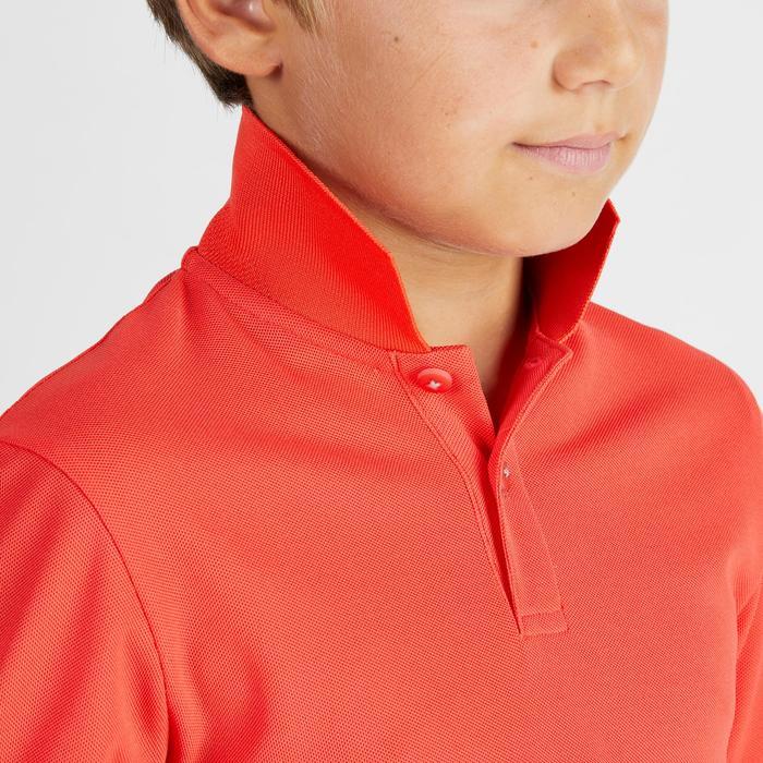 儿童透气高尔夫Polo衫-红色
