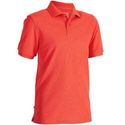 儿童高尔夫短袖Polo衫-红色