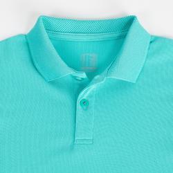 儿童透气高尔夫Polo衫-蓝绿色