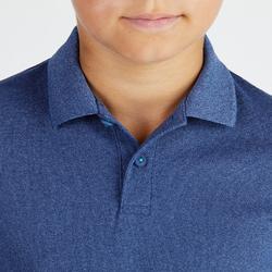 儿童透气高尔夫Polo衫-蓝色