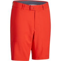 男士高尔夫百慕大透气短裤-红色