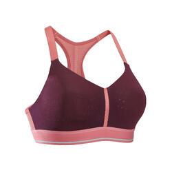 跑步运动背扣缓震支撑女士可调节式内衣 KALENJI SPORTANCE COMFORT