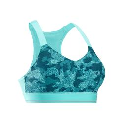 跑步运动支撑无缝女士背心式内衣 KALENJI TOP COMFORT
