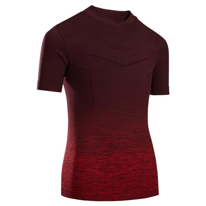 儿童透气训练紧身衣 Keepdry 500 - 斑驳酒红色/红色