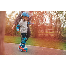 儿童溜冰,滑板,滑板车护具三件套Basic - Blue