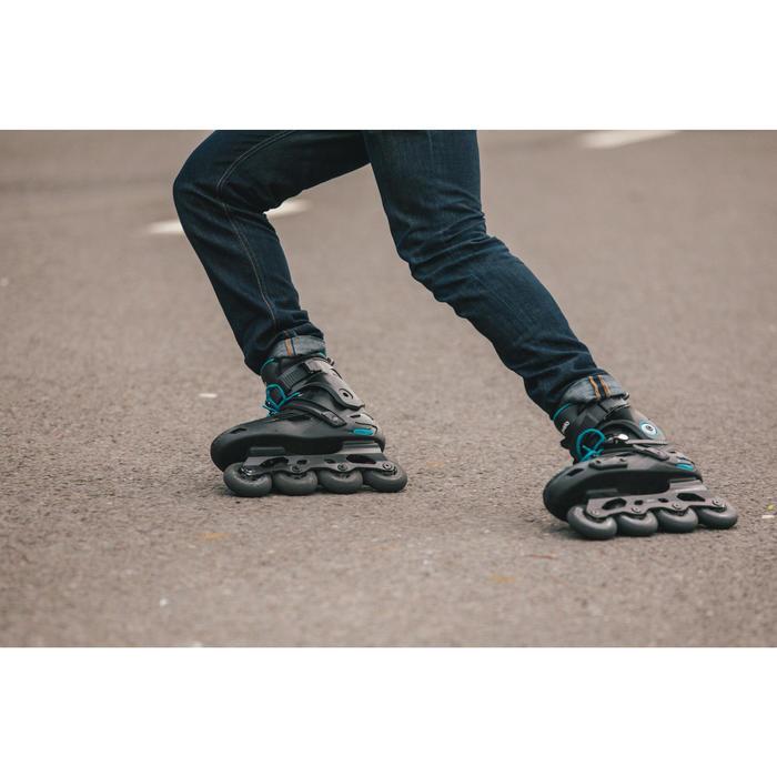 成人自由式轮滑鞋MF500 HardBoot - Black/Blue