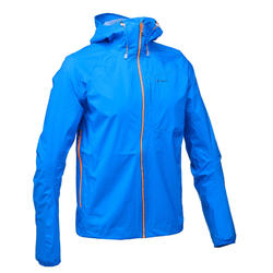 Men's Waterproof Fast Hiking Jacket FH500 Helium Rain - Blue