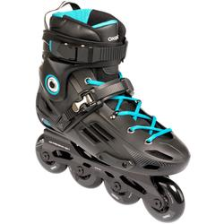 成人自由式轮滑鞋MF500 HardBoot - Black/Blue