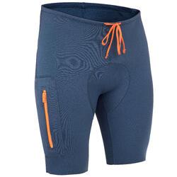 男式皮划艇和站立式桨板短裤500 BLUE