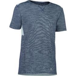 男童青少年体能训练短袖T恤500系列 - 灰色/蓝色