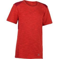 男童青少年体能训练短袖T恤500系列 - 红色