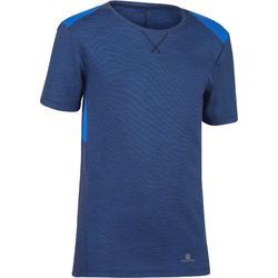 男童青少年体能训练短袖T恤500系列 - 蓝色