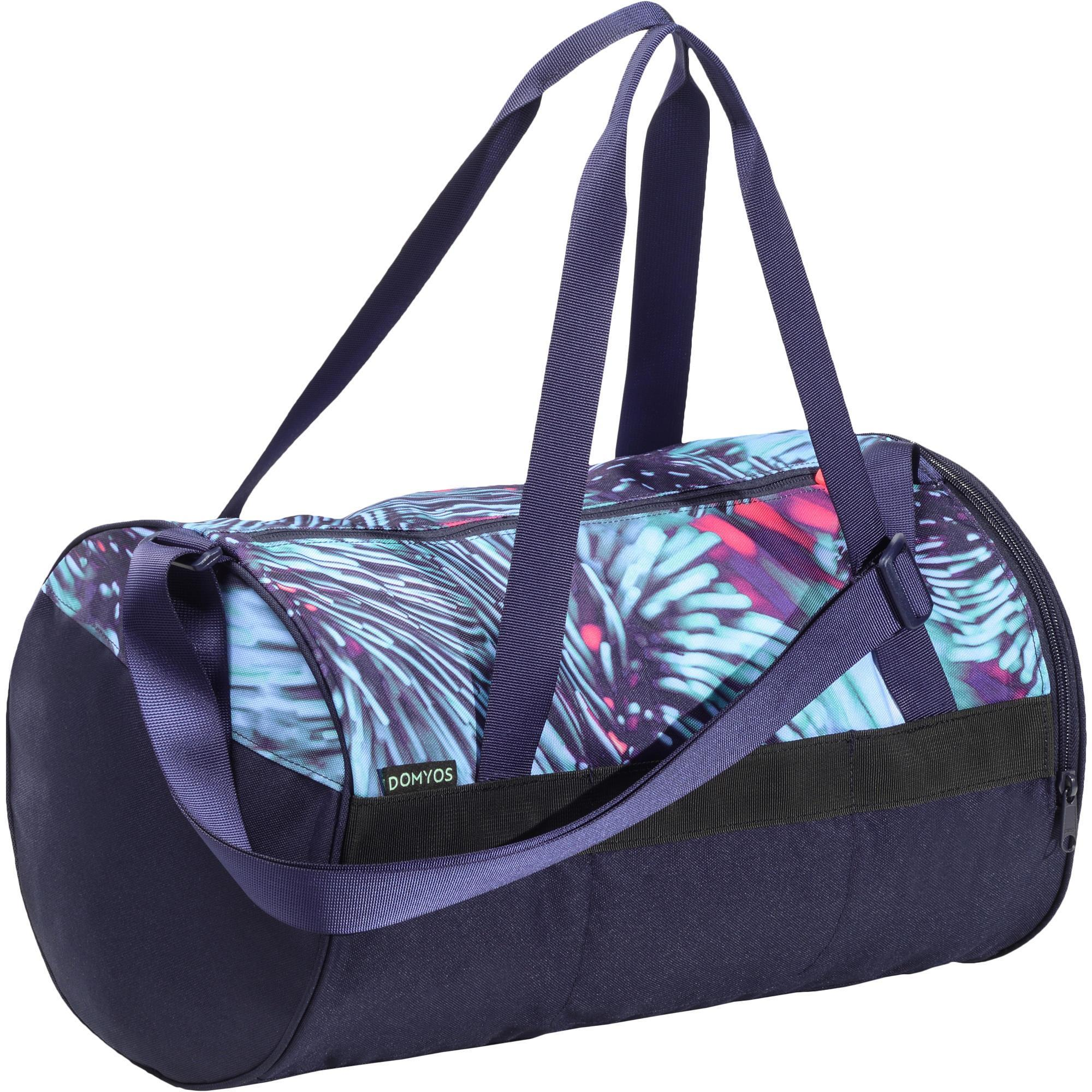 Bags 20L Fitness Bag - Pink Blue Green Print Domyos - Decathlon 03fa10efaeabb