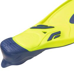 水肺潜水脚蹼 - 黄蓝色500系列