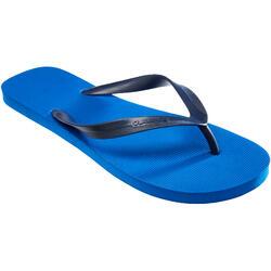 男式沙滩人字拖TO 100 M - Dark Blue