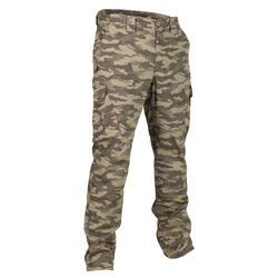 荒野探险运动轻盈耐磨耐磨长裤 SOLOGNAC SG500 trousers KHK
