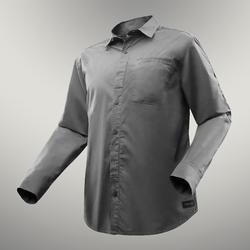 户外运动棉质舒适可调节男士长袖衬衫 FORCLAZ