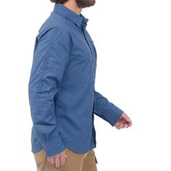 TRAVEL 500 男式徒步旅行衬衫 - 蓝色