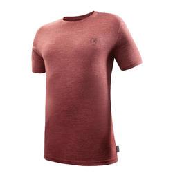 户外运动舒适美利奴羊毛短袖男式士T恤 QUECHUA