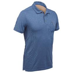 Travel 100 男式短袖 Polo 衫 - 蓝色