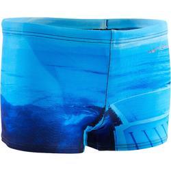 游泳运动短款平角男泳裤 NABAIJI 男童游泳短裤LANI LASO - 黑蓝色