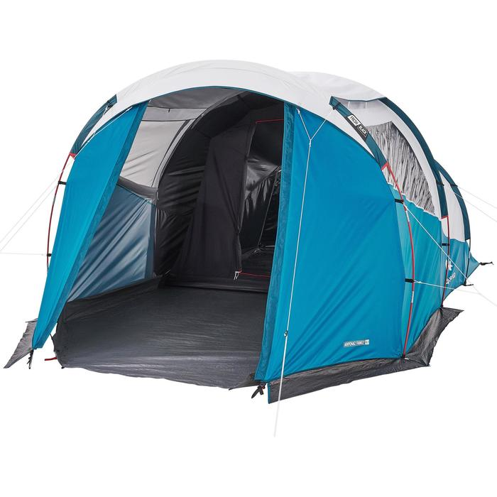 Family Camping Tent Arpenaz 41 Fresh Black