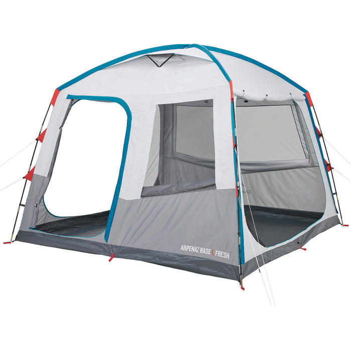 4 to 10 pers tents Arpenaz Base L Fresh Living Room | 10 persons ...