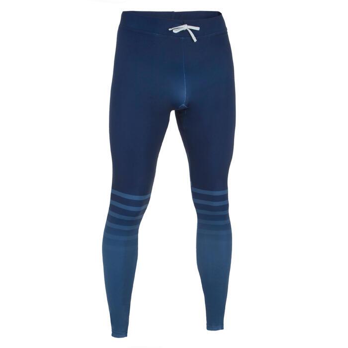 男式冲浪防晒紧身裤100 - Navy blue