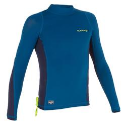 500 Kids' Long Sleeve UV Protection Top Surfing T-Shirt - Blue