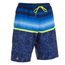男式长款沙滩裤100 Blue stripes
