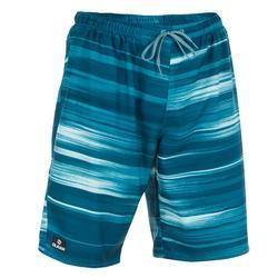 冲浪运动长款男士沙滩裤 OLAIAN 100