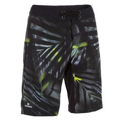 男式长款冲浪裤500 Jungle grey