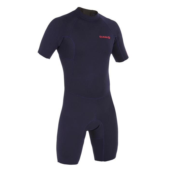 男式冲浪1.5毫米氯丁橡胶连体服100 - navy blue