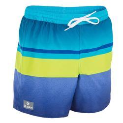 青少年短款沙滩裤100 Tween Mood green