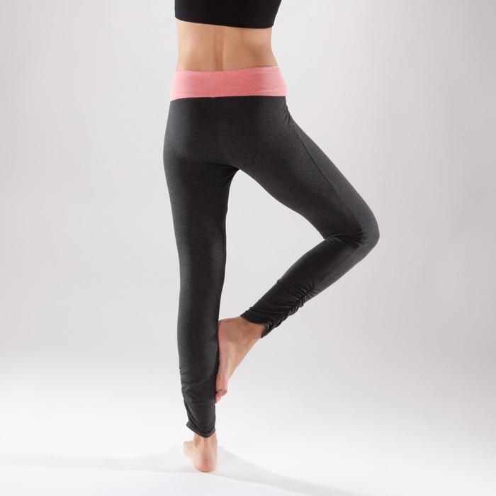 女式舒缓瑜伽紧身裤 - Grey/Pink