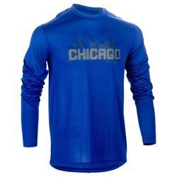 篮球运动紧身保暖男士篮球长袖T恤 TARMAK Fast Chicago